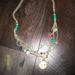 Chico's Jewelry - Chico's Julia Multi Beaded Coins Necklace NWT
